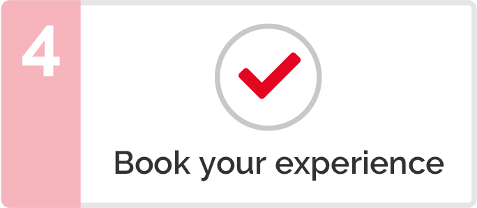 Step 4 - Book your experience